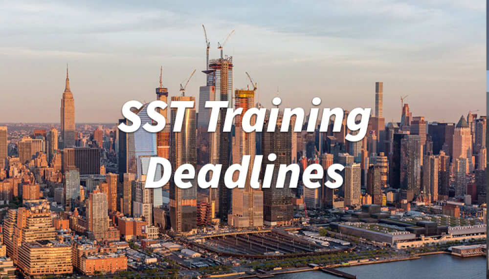 sst training, sst deadlines, nyc sst, new york city training, construction sst, construction training