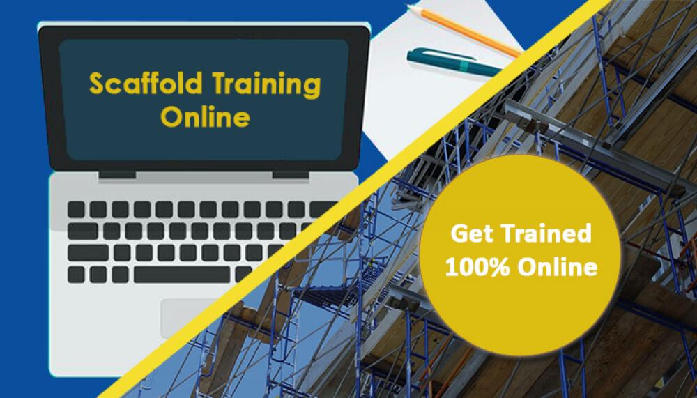 scaffold user training online, 4 hour scaffold training online, 4 hour supported scaffold course online, 4 hour scaffold card online
