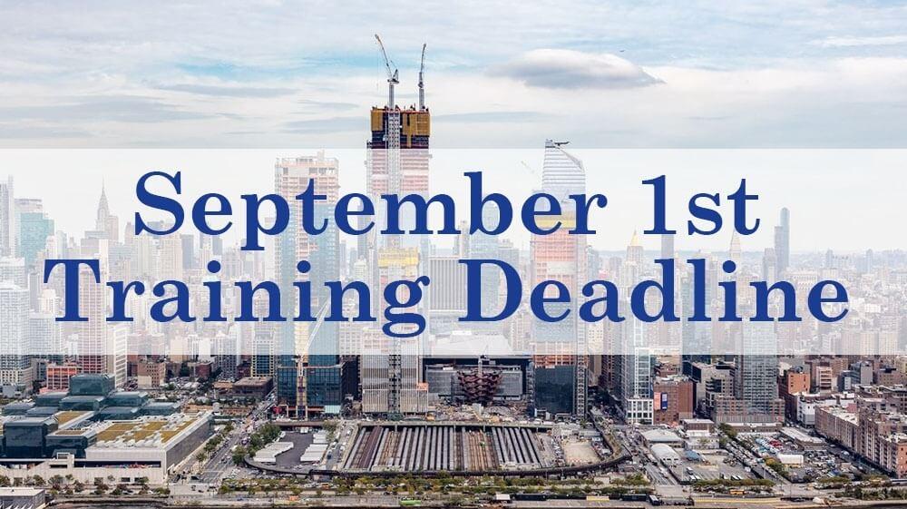 sst training, sst deadline, osha 62 hour, osha 40 hour, 40 hr sst, Site Safety, NYC DOB training