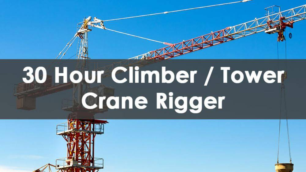 tower crane rigger training, tower crane rigger, 30 hour special rigger course, 30 hour riggers foreman training nyc