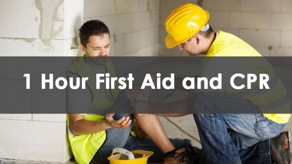 1 Hour First Aid And CPR Training, In-Person
