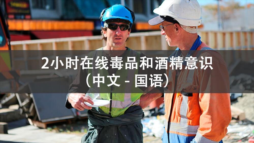 2小时毒品和酒精意识 (线上 - 普通话) - 中文